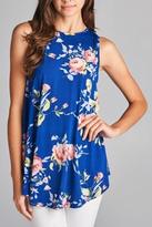 Cezanne Floral Print Tunic Top