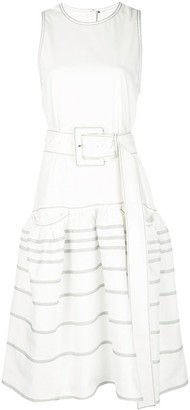 Proenza Schouler Twill Drop Waist Dress
