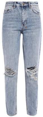 Ksubi Distressed High-rise Slim-leg Jeans