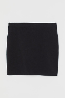 H&M Short Jersey Skirt - Black