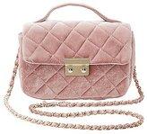 Charlotte Russe Quilted Velvet Crossbody Bag