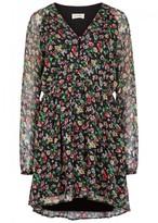 American Vintage Peonyland Floral-print Chiffon Mini Dress