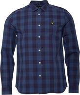 Lyle And Scott Vintage Mens Block Check Shirt Navy