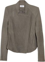 Helmut Lang Wither draped leather jacket
