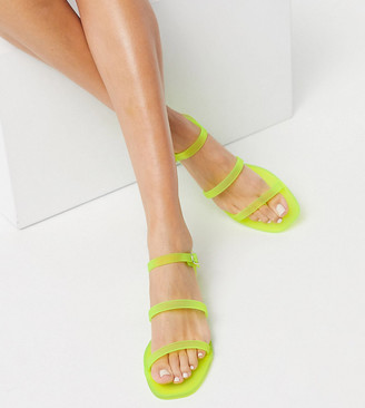 Simmi Shoes Simmi London Exclusive Maliboo jelly sandals in neon yellow