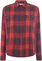 Lee Long Sleeved Checked Shirt With Two Pockets