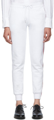 Thom Browne White Classic Loopback Lounge Pants