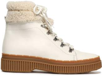 Tod's Shearling-trimmed Leather Snow Boots