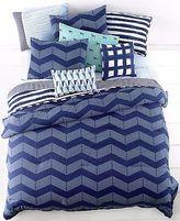 Martha Stewart Whim Spot Chevron 5 Piece Full/queen Comforter Set Blue V1543