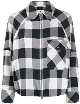 Woolrich oversized checked print short jacket