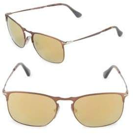 Persol 52MM Square Mirrored Sunglasses