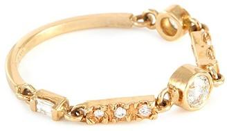 Xiao Wang Astro' baguette diamond 18K gold ring
