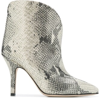Paris Texas Metallic Snakeskin Effect Ankle Boots