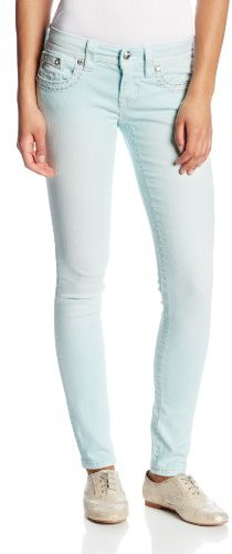 Miss Me Juniors Leather Wing Studded Skinny Jean
