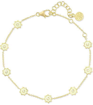 Amrapali 18-karat Gold, Diamond And Enamel Bracelet