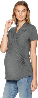 Maternal America Women's Maternity Cross Drape Nursing Top