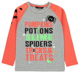 George Halloween Slogan Long Sleeve Top