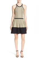 Parker Metallic Jacquard Fit & Flare Dress