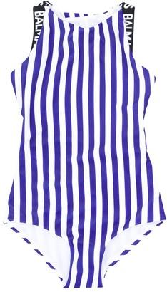 Balmain Kids Striped Swimsuit