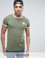 Le Coq Sportif Ringer T-shirt In Green Exclusive To Asos 1622158