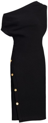 Proenza Schouler Technical Twill Twisted Off-The-Shoulder Midi Dress