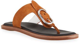 Rag & Bone Ansley Suede Buckle Thong Sandals