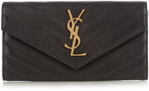 Saint Laurent Monogram pebbled-leather wallet