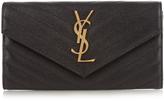 Saint Laurent Monogram pebbled-leather wallet