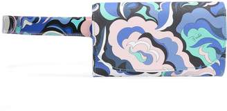 Emilio Pucci Printed Textured And Patent-leather Belt Bag