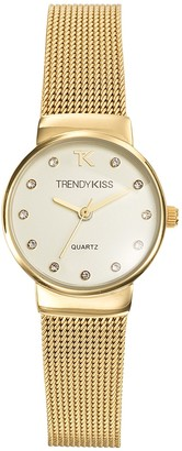 Trendykiss Trendy Kiss - TMG10065-07 Women's Quartz Analogue Watch - White Dial- Golden Metal Bracelet