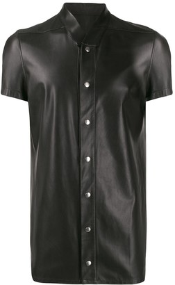 Rick Owens Band Collar Shirt