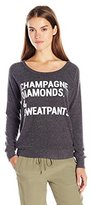 Chaser Women's Champagne Diamonds and Sweatpants T