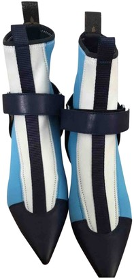 Louis Vuitton Turquoise Leather Ankle boots
