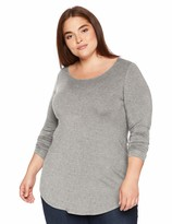 Thumbnail for your product : Daily Ritual Amazon Brand Women's Plus Size Jersey Long-Sleeve Scoop Neck Tunic