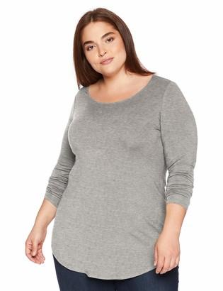 Daily Ritual Amazon Brand Women's Plus Size Jersey Long-Sleeve Scoop Neck Tunic