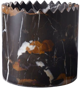 Editions Milano Triangoli Vase Black&gold Marble Cup