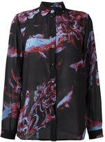 Diesel fish print shirt - women - Polyester - XS
