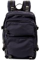 Prada Multi-Pocket Nylon Backpack, Navy