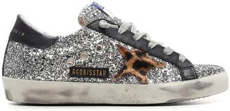 Golden Goose Superstar Glitter Upper Horsy Star Leather Heel