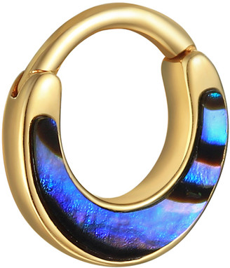 Pamela Love Abalone Inlay Clicker Single Hoop Earring - Yellow Gold