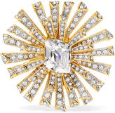 Kenneth Jay Lane Rhodium-plated Crystal Brooch