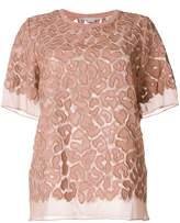 Stella McCartney sheer leopard print blouse