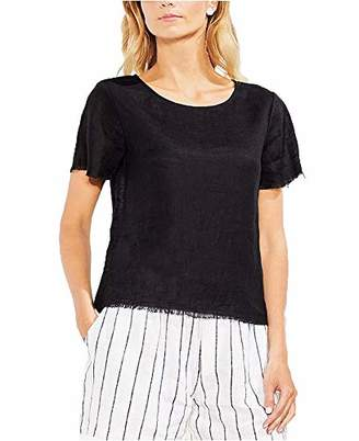 Vince Camuto Frayed Linen Top (