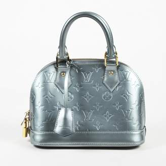 Louis Vuitton Alma Blue Patent leather Handbag