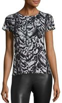 Saks Fifth Avenue COLLECTION Printed Cashmere Top