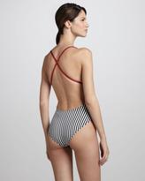 Norma Kamali Mio Striped One-Piece Swimsuit