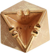 One Kings Lane Vintage Gold Stangl Pottery Diamond Ashtray