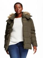 Old Navy Faux-Fur Trimmed Plus-Size Frost-Free Jacket