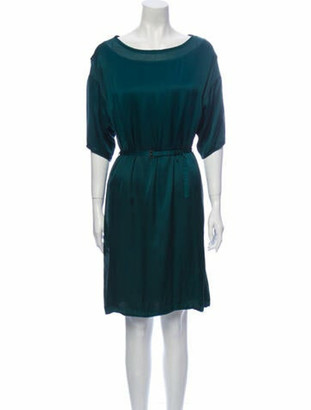 Lanvin Scoop Neck Knee-Length Dress Green