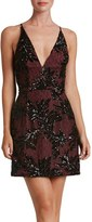 Dress the Population Women's Jordyn Sequin Lace Sheath Dress